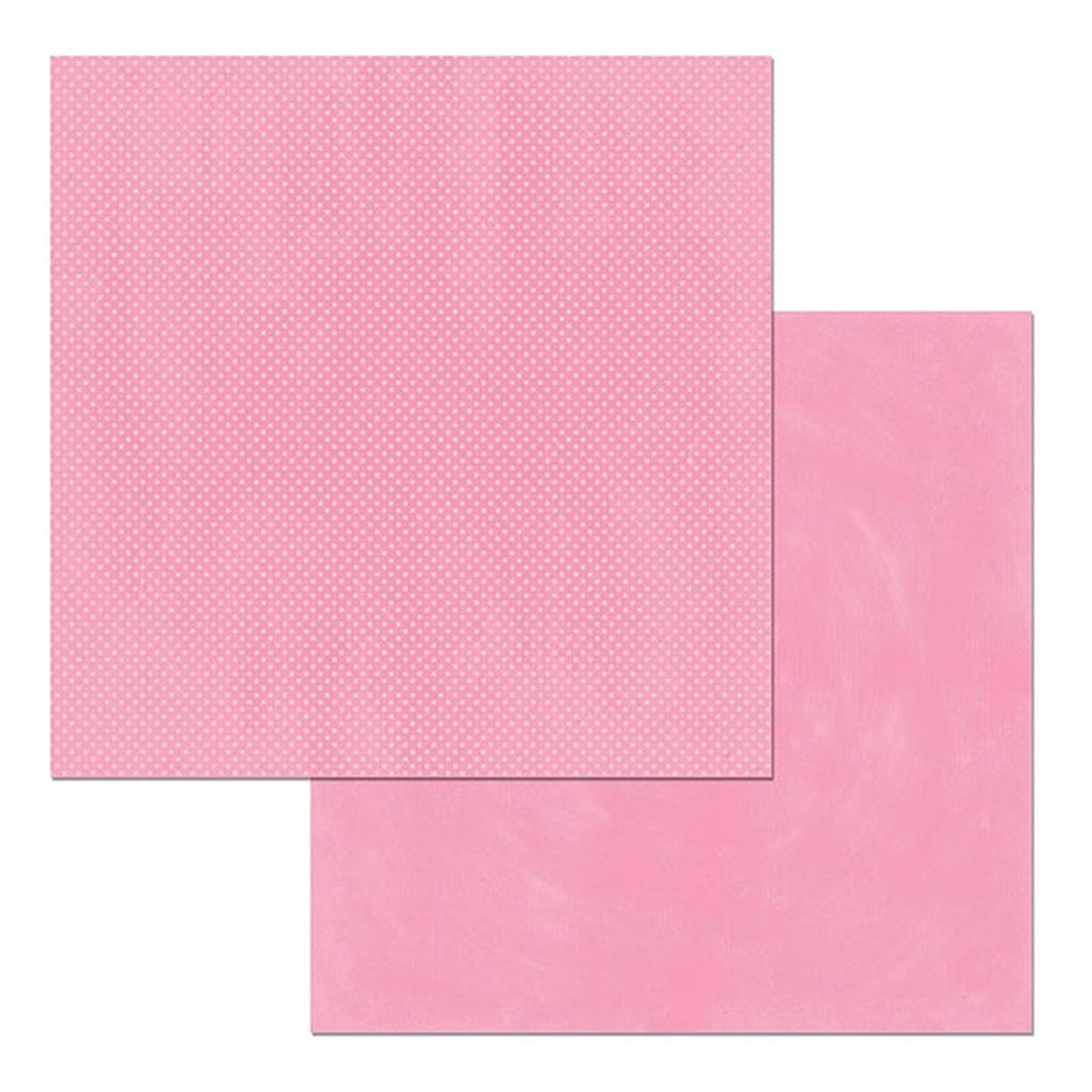 BoBunny - Double Dot Double-Sided Textured Cardstock 12in x 12in - Passion Fruit