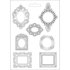 Stamperia Soft Maxi Mold 8.5in X11.5in - Frames, Princess