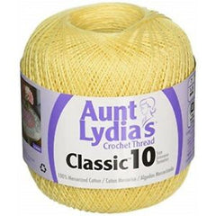 Aunt Lydias Classic Crochet Thread Size 10 Maize