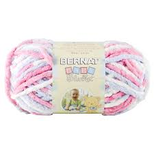 Bernat Baby Blanket Big Ball Yarn - Pink & Blue Ombre 10.5oz/300g