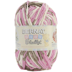 Bernat Baby Blanket Big Ball Yarn - Little Petunias 10.5oz/300g