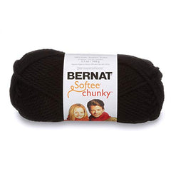 Bernat Softee Chunky Yarn - Black - 100g