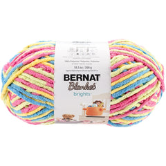 Bernat Blanket Brights Big Ball Yarn - Sweet & Sour Variegated 300g