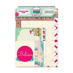 BoBunny - Misc Me 4X6in & 3X4in Journal Pack - Candy Cane