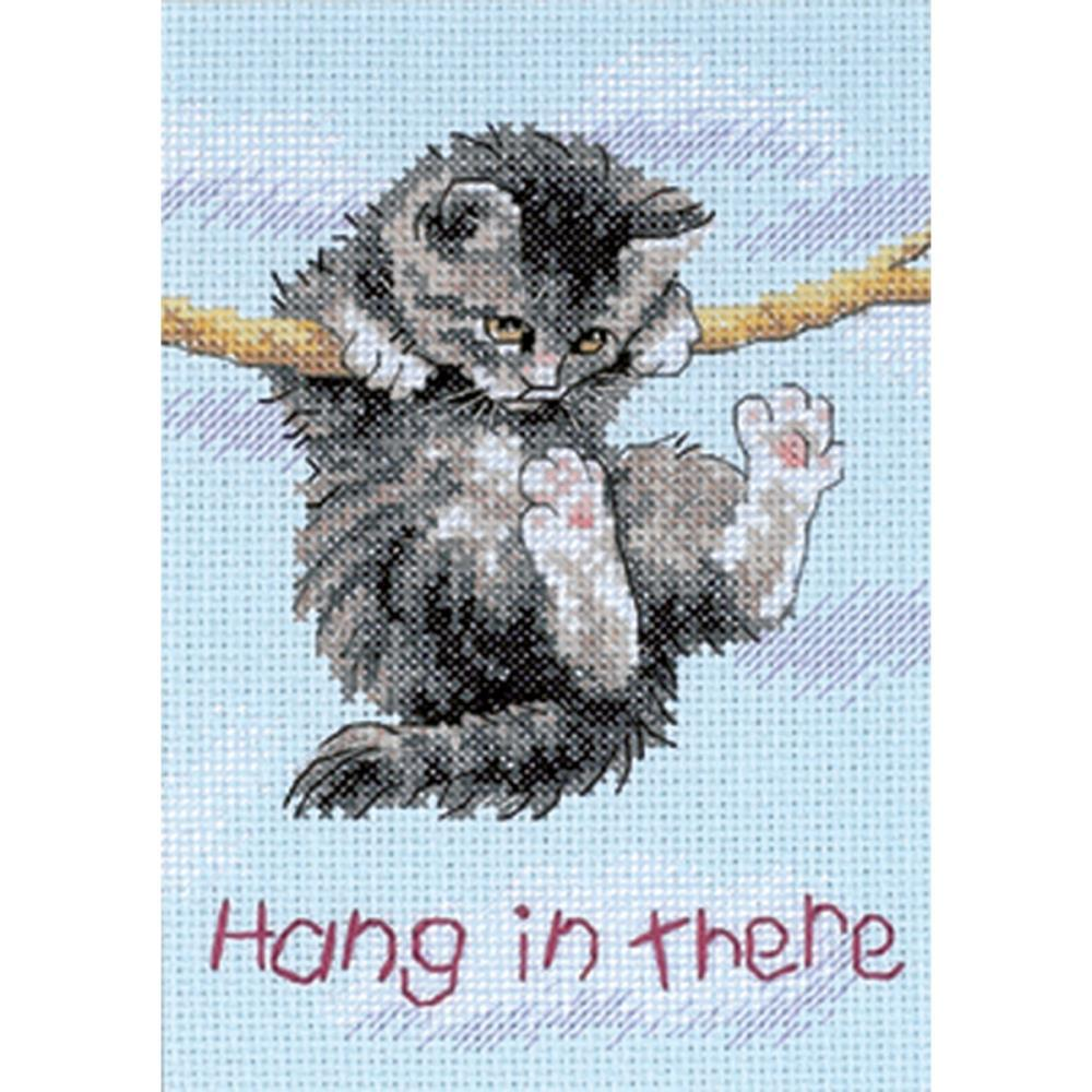 Dimensions/Jiffy Mini Counted Cross Stitch 5inch X7inch Hang On Kitty (14 Count)