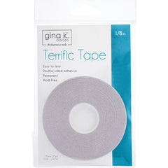 Gina K Designs Terrific Tape 1/8inch X27yds - Clear