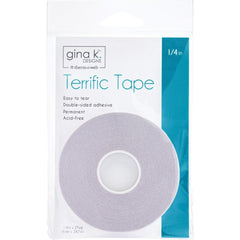 Gina K Terrific Tape 1/4inch X27yds - Clear