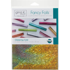 Gina K Designs Fancy Foil 6inch X8inch 12 pack Glimmering Gold