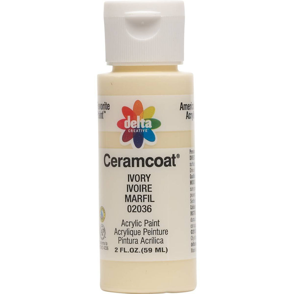 Ceramcoat Acrylic Paint 2oz Ivory - Opaque