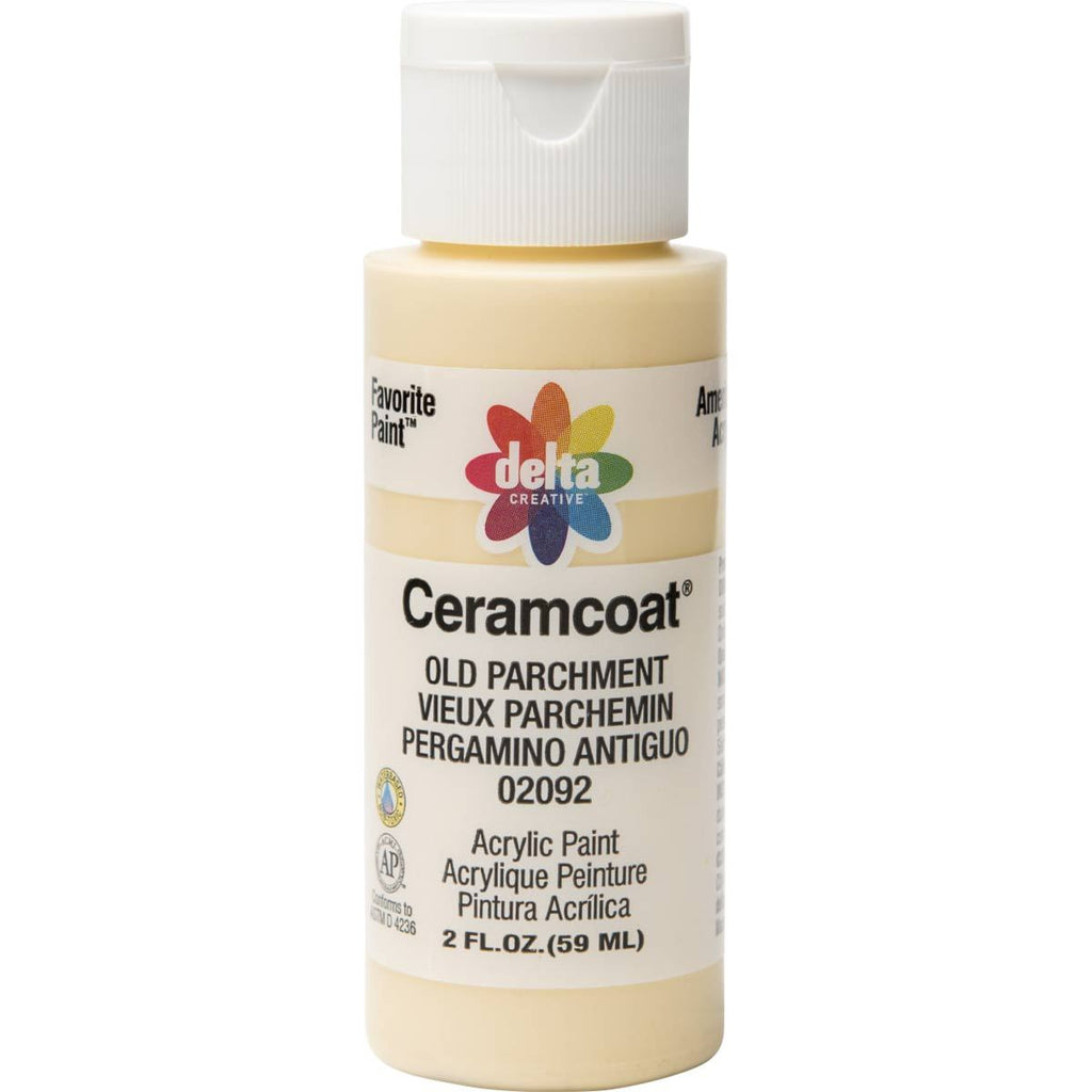 Ceramcoat Acrylic Paint 2oz Old Parchment - Opaque