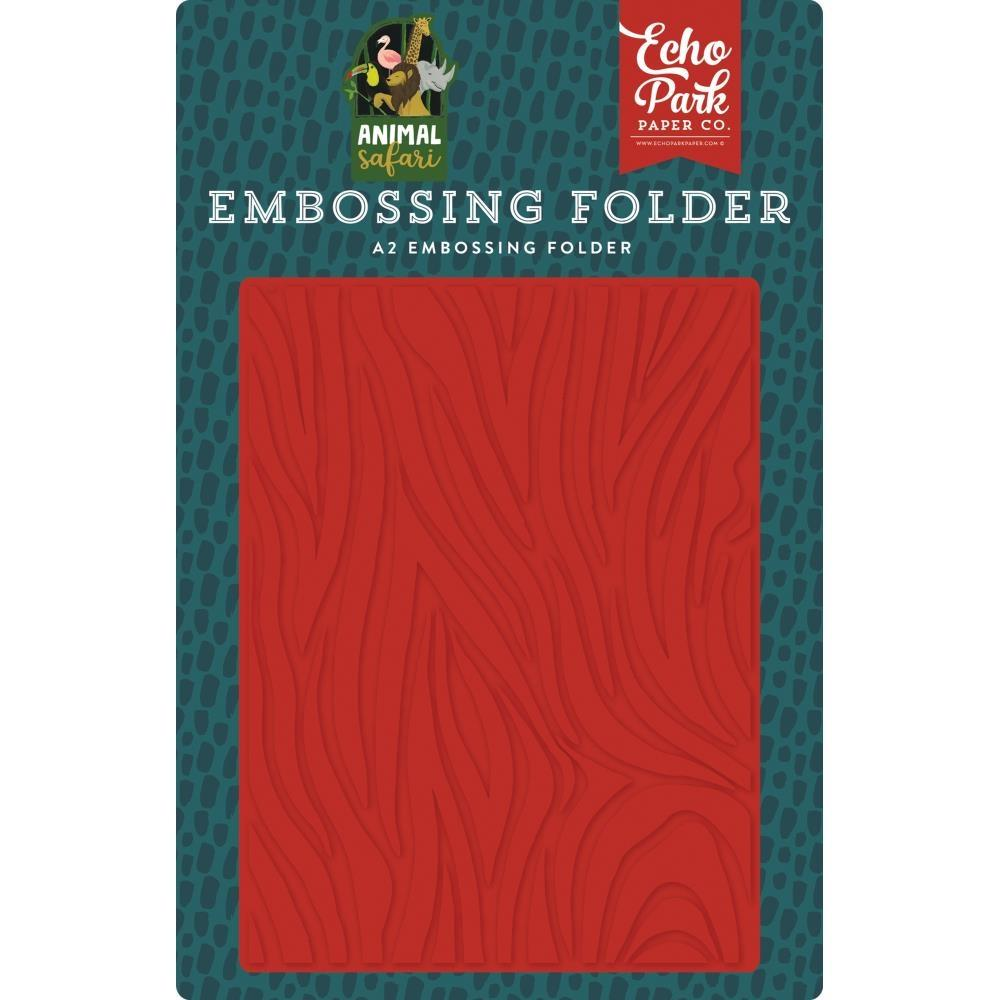 Echo Park Embossing Folder A2 - Zebra
