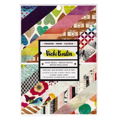 American Crafts Vicki Boutin Single-Sided Paper Pad 6inch X8inch 24 pack Colour Kaleidoscope, 24 Designs/1 Each