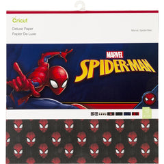 Cricut 12 inch X12 inch Deluxe Paper 12 pack Marvel Spider-Man
