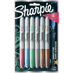 Sharpie Metallic Fine Point Permanent Markers 6 pack - Ruby,sapphire,emerald,bronze,silver,gold