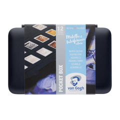 Talens - Van Gogh - Metallic/Interference Watercolours - Pocket Box of 12 half pans