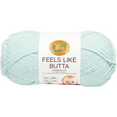 Lion Brand Feels Like Butta Yarn - Ice - 100g