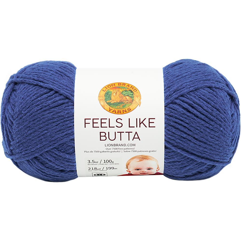Lion Brand Feels Like Butta Yarn Royal Blue - 100g