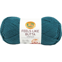 Lion Brand Feels Like Butta Yarn - Teal - 100g