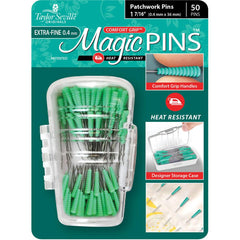 Taylor Seville Magic Pins - Patchwork Extra Fine Green 50 pack