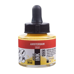 223 - Talens Amsterdam Acrylic Ink 30ml Naples Yellow Deep