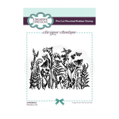 Creative Expressions Designer Boutique Collection Rubber Stamp 4.9in x 3.46in - Meadow Life