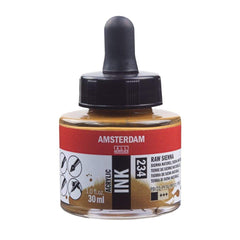 234 - Talens Amsterdam Acrylic Ink 30ml - Raw Sienna