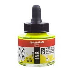 256 - Talens Amsterdam Acrylic Ink 30ml - Reflex Yellow