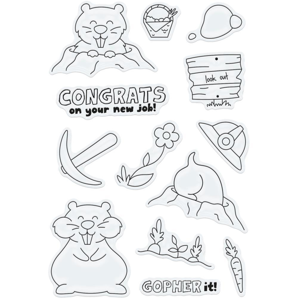 Tonic Studios Clear Stamps Go For It Gopher