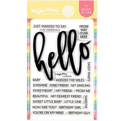 Waffle Flower Crafts Clear Stamps 4in x 6in - Oversized Hello