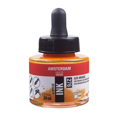 276 - Talens Amsterdam Acrylic Ink 30ml - Azo Orange