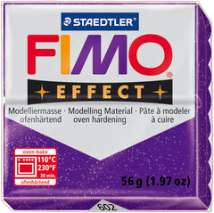 Fimo Effect Polymer Clay 2oz - Glitter Purple