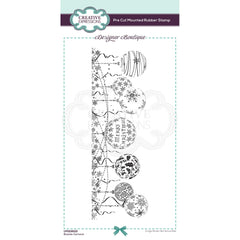 Creative Expressions Designer Boutique Pre Cut Rubber Stamp DL - Bauble Garland