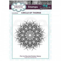 Creative Expressions Rubber Stamp by Andy Skinner 2.9 in x 2.9 in - Circle of Thorns