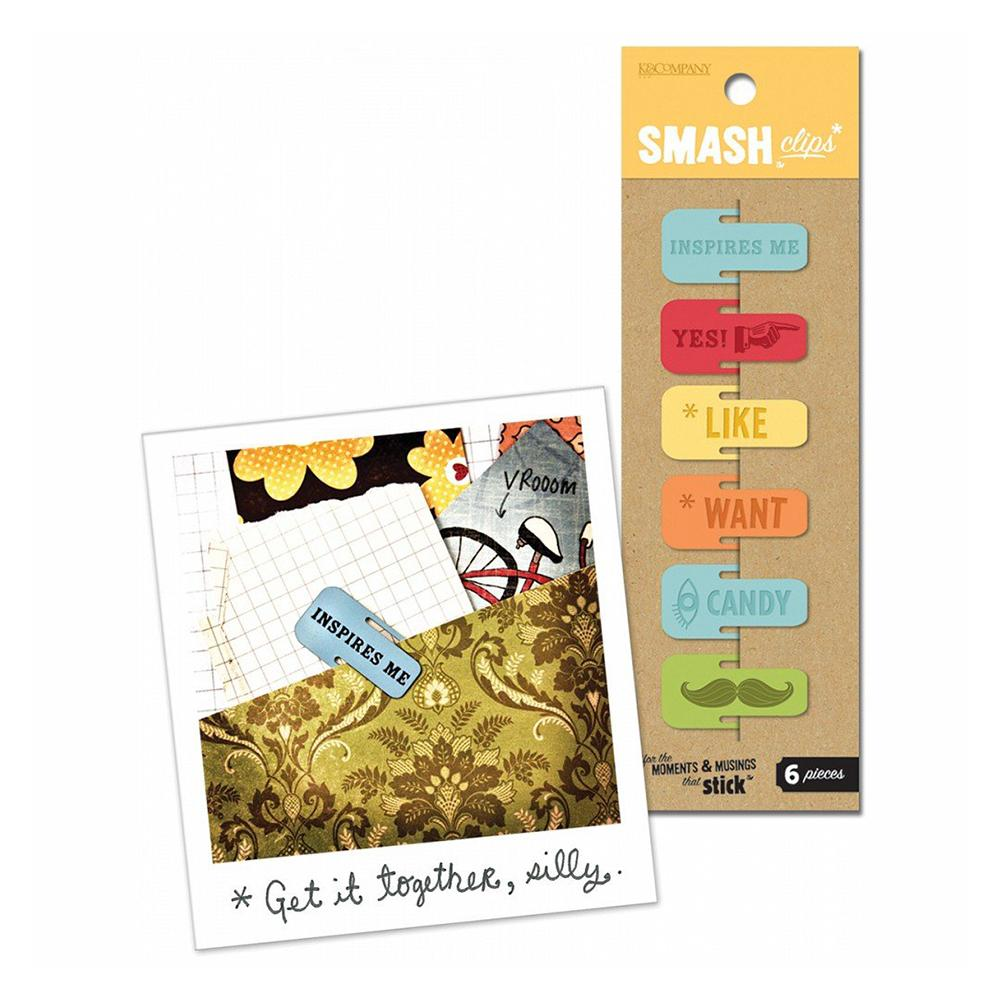 Smash - Paper clips - Retro - 6 per pack