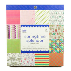 Poppy Crafts - 6x6in Paper Pad - Springtime Splendor