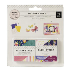 Pink Paislee Paige Evans Bloom Street - Mini Swatch Books 2in x 2in 2 pack  - Pattern and Phrase, 36 Sheets Each