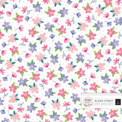 Pink Paislee Paige Evans Bloom Street - Specialty Paper 12in x 12in - Acetate with Iridescent Foil