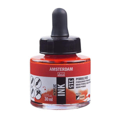 315 - Talens Amsterdam Acrylic Ink 30ml - Pyrrole Red