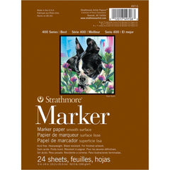 Strathmore Marker Paper Pad 6in x 8in - 50lb Smooth 24 Sheets