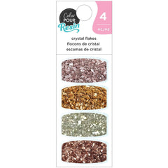 American Crafts Color Pour Resin Mix-Ins 4 pack - Crystal Flakes - Naturals