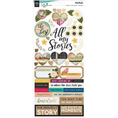 "Vicki Boutin Storyteller Cardstock Stickers 6""X12"" 93 pack  Accents & Phrases"