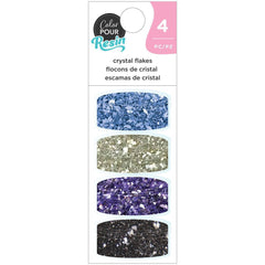 American Crafts Color Pour Resin Mix-Ins 4 pack  - Crystal Flakes - Galaxy