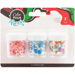American Crafts Color Pour Resin Mix-Ins 4 pack  - Holiday Clay Confetti