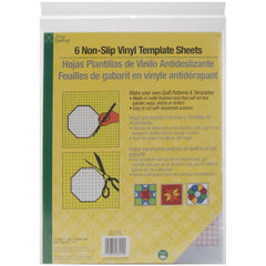 Dritz Quilting - Non-Slip Vinyl Template Sheets 6 pack  8.5in x 11in