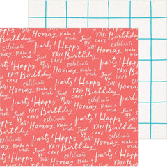 Crate Paper - Hooray Double-Sided Cardstock 12inch X12inch Cheers