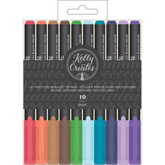 Kelly Creates Bullet Tip Pens 10 pack - Multicolour