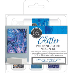 American Crafts Colour Pour Glitter Mix-In Kit 4 pack Galaxy Surge