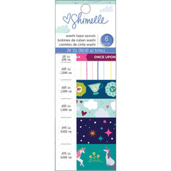 American Crafts - Shimelle Head In The Clouds Washi Tape 6 pack Foil & Glitter Accents