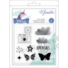 American Crafts - Shimelle Head In The Clouds Clear Acrylic Stamps - Icons