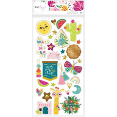 Dear Lizzy New Day Chipboard Stickers 30 pack